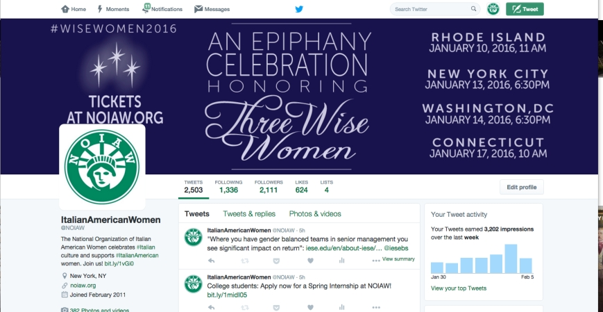 Twitter Epiphany 2016